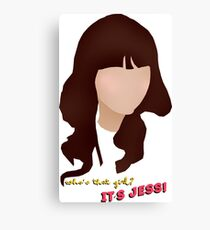 Who's that girl? It's Jess! Canvas Print