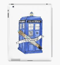 10th Doctor's Tardis, Sonic, and Saying iPad Case/Skin