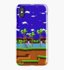 Green Hill Zone - Sonic the Hedgehog Scene iPhone Case/Skin