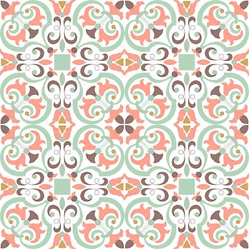 Seamless colourful ornament tiles by AnaMOMarques