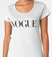 vogue, fashion, chanel, t shirt Women's Premium T-Shirt