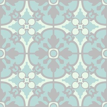 Portuguese tiles pattern. Vintage background. Vector seamless texture by AnaMOMarques