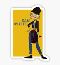 Sam White Sticker