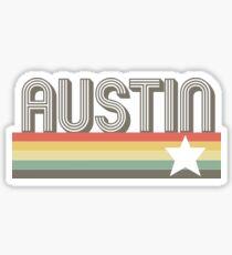 Austin Vintage Retro Texas Gift Design Art T-Shirt Sticker