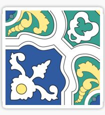 Portuguese tiles pattern. Vintage background. Vector texture Sticker