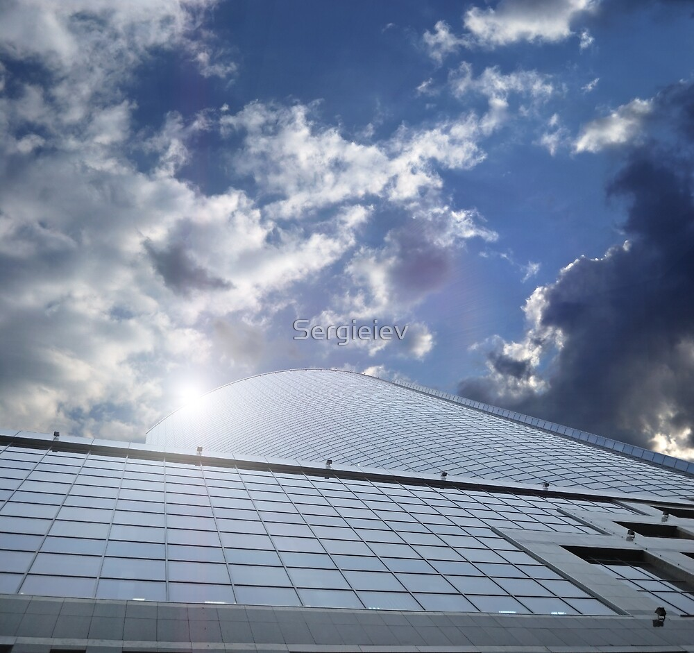 office centre - business ship in sky by Sergieiev