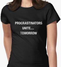 Procrastinators Unite Tomorrow T-Shirt Women's Fitted T-Shirt