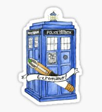 11th Doctor's Tardis, Sonic, and Saying Sticker