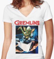 Gremlins Women's Fitted V-Neck T-Shirt