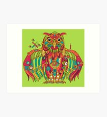 Owl, cool art from the AlphaPod Collection Art Print