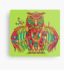 Owl, cool art from the AlphaPod Collection Metal Print