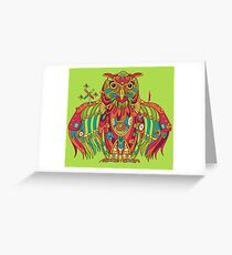Owl, cool art from the AlphaPod Collection Greeting Card
