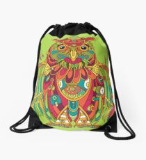 Owl, cool art from the AlphaPod Collection Drawstring Bag