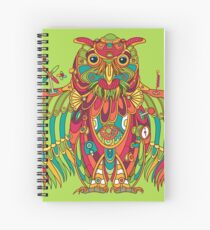 Owl, cool art from the AlphaPod Collection Spiral Notebook