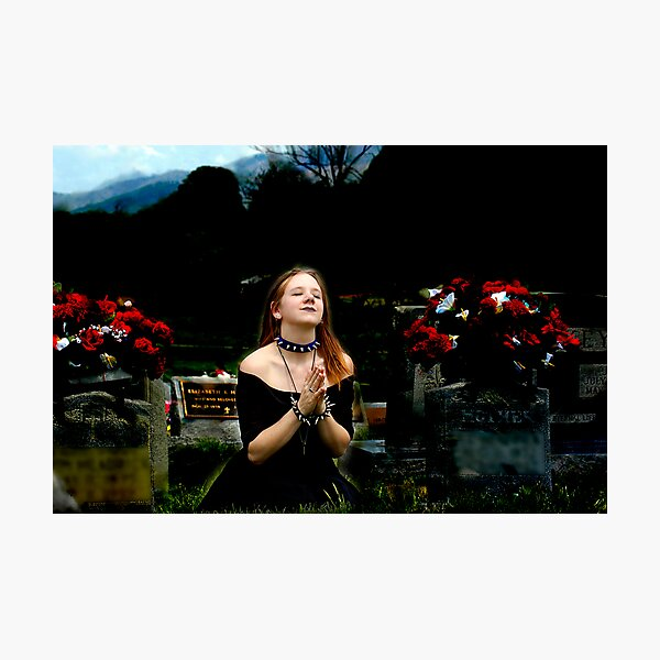 Composited Artist Gothic Cemetary Image Photographic Print