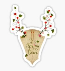 It's Spring Dear Sticker