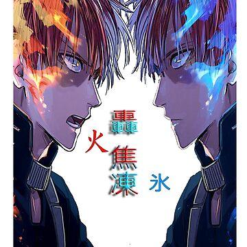 Boku no hero academia - Shoto Todoroki - ice and fire by ChefMeson
