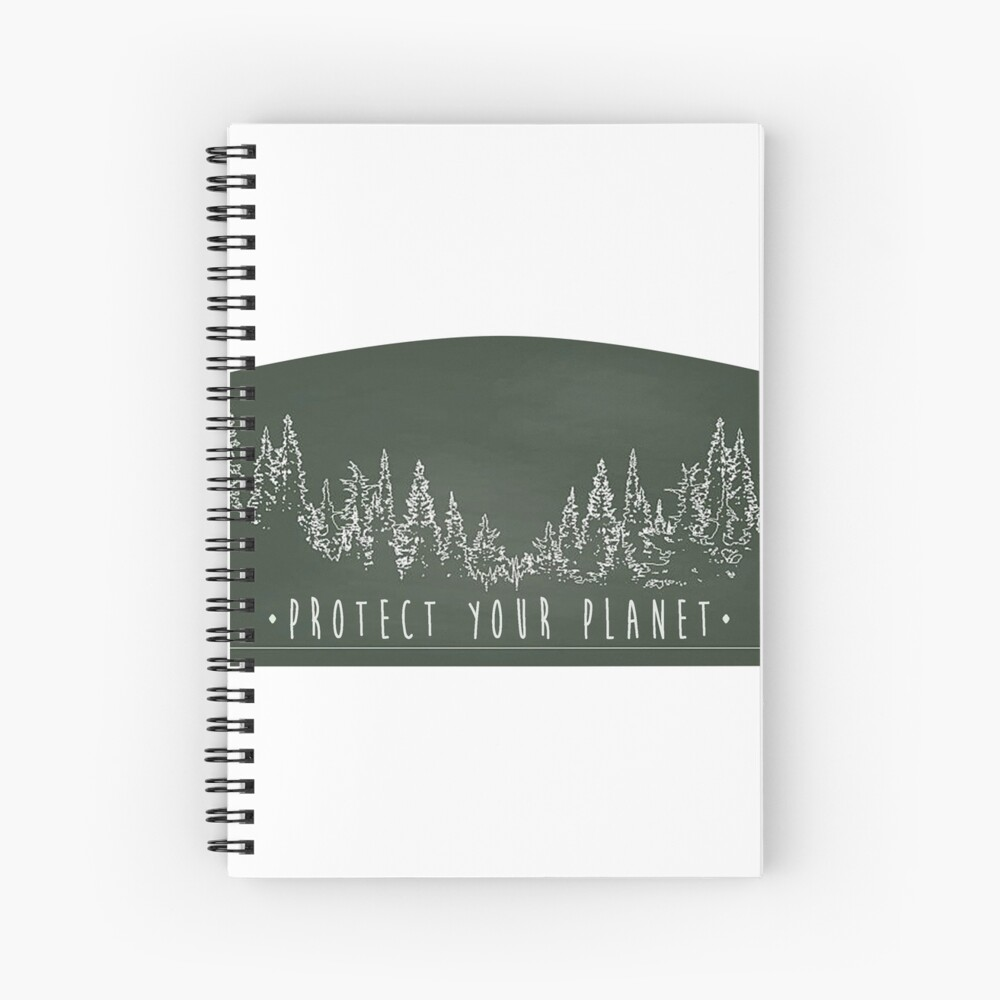 Protect Your Planet sticker Spiral Notebook