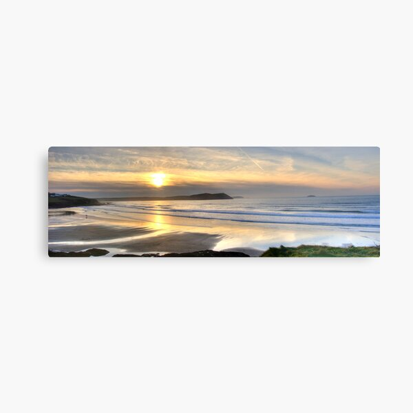 Polzeath Panorama Metal Print