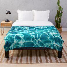 Manta Agua turquesa - Azul aguamarina - Ondulaciones