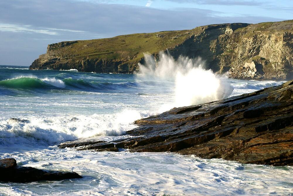 Trebarwith Strand Seaspray by David Wilkins
