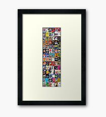 NES Classics Titles Games - Pattern Throw Pillow & More! Framed Print