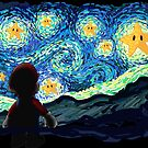 An Original Starry Night Painting Gamer Parody by DesIndie