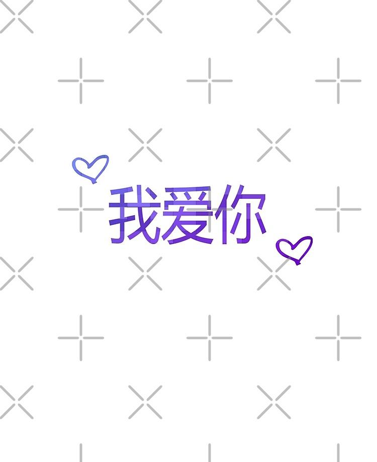 Wo Ai Ni Chinesisch Ich Liebe Dich Ipad Hulle Skin Von