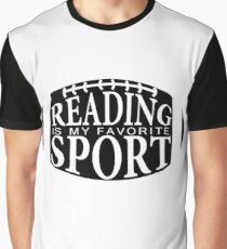 Reading Is My Favorite Sport Graphic T-Shirt