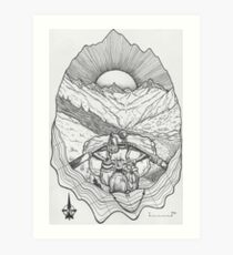 The Unknown Path... Art Print