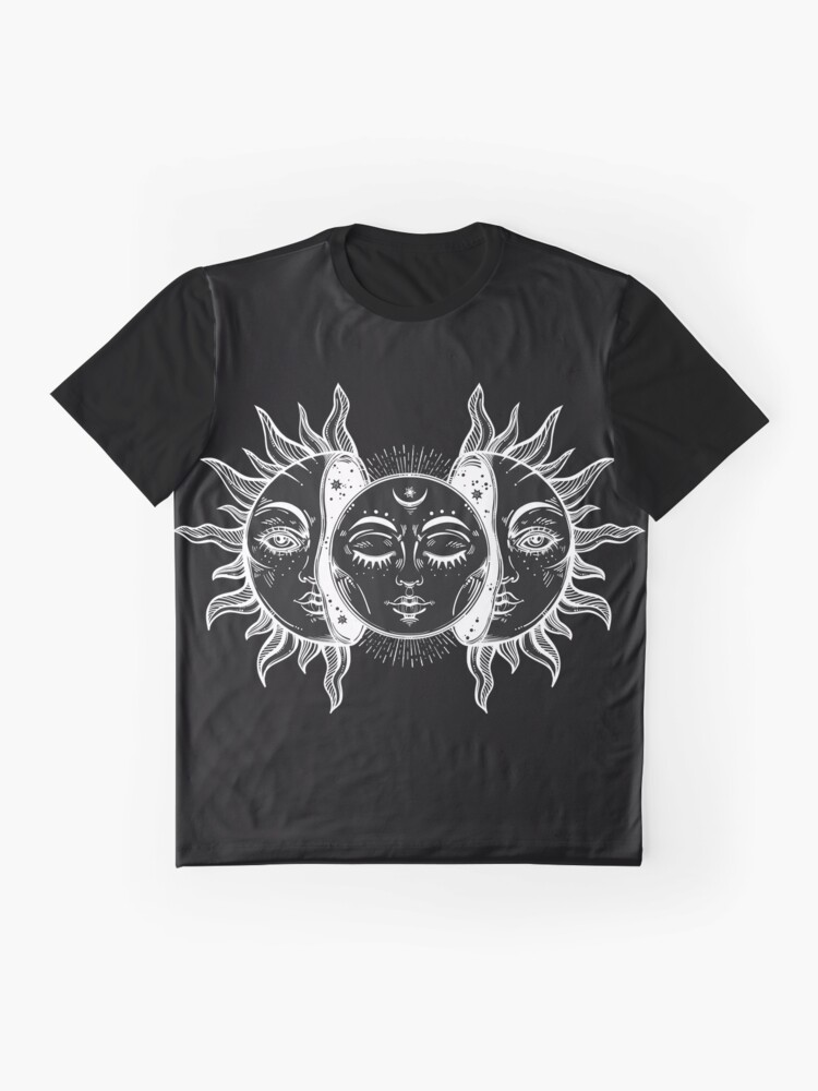 Alternate view of Vintage Sun and Moon Solar Eclipse Graphic T-Shirt