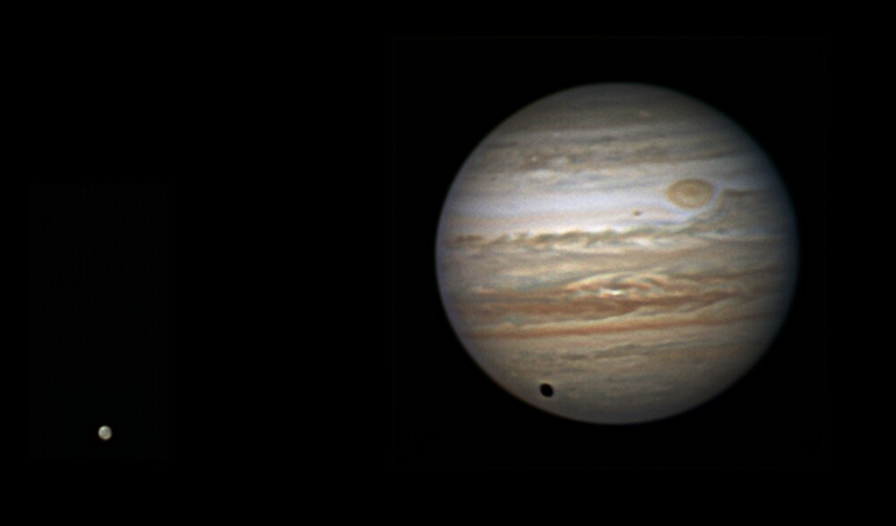 Jupiter and Ganymede by Mike Salway