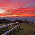 Sunset Over the Brendon Hills by kernuak
