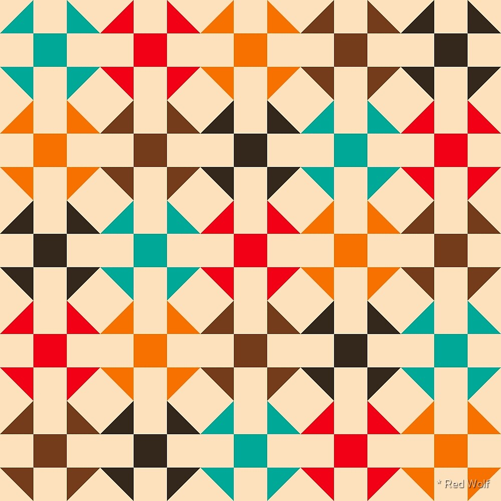 Geometric Pattern: Quilt: Summer by * Red Wolf