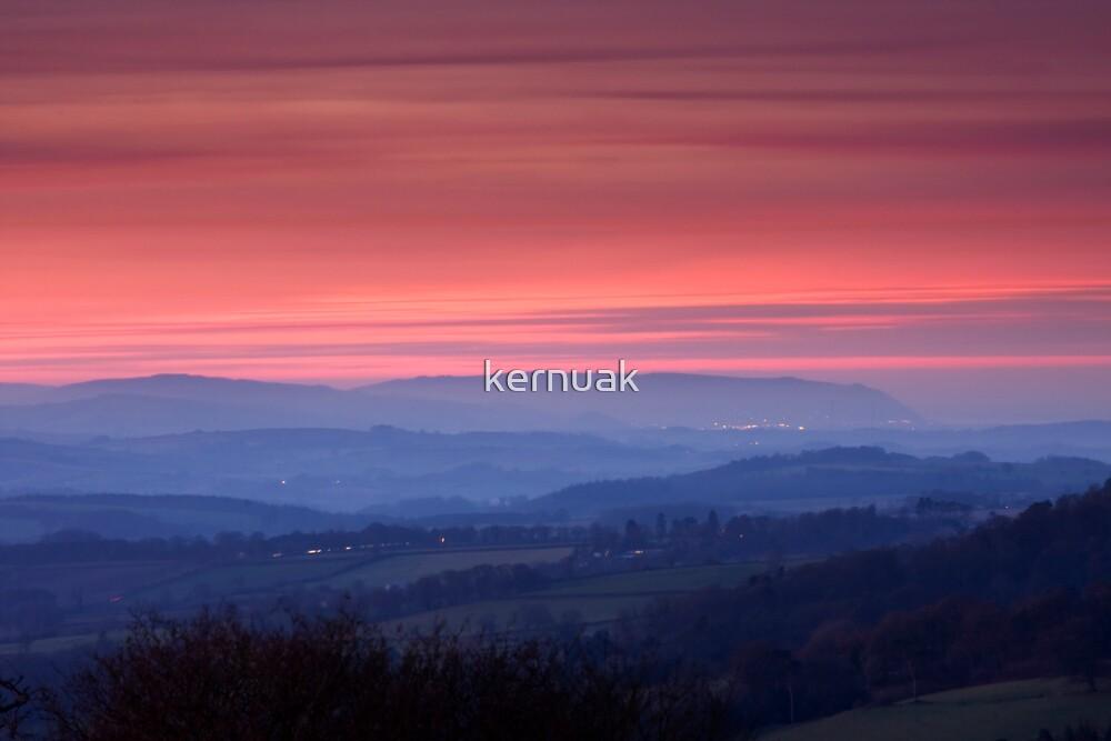 Misty Sunset by kernuak