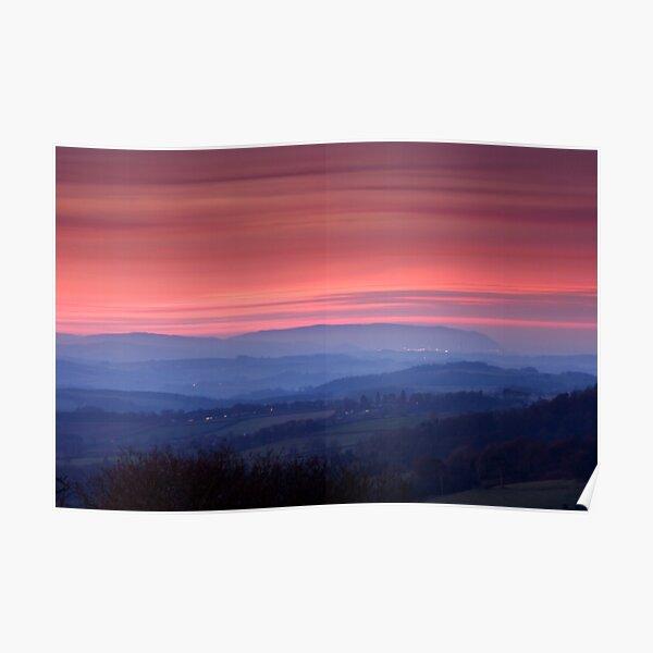 Misty Sunset Poster