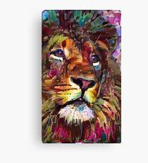 Bunter Lion Painting v2 Leinwanddruck
