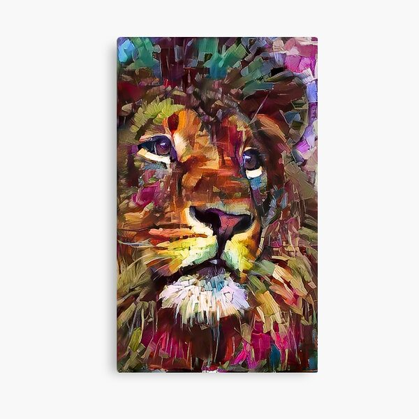 Colorful Lion Painting v2 Canvas Print