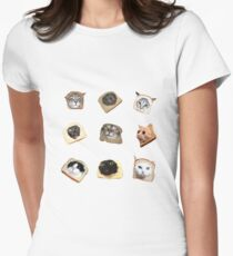 bread cats Women's Fitted T-Shirt