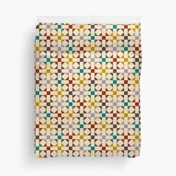 Geometric Pattern: Quilt: Autumn Duvet Cover