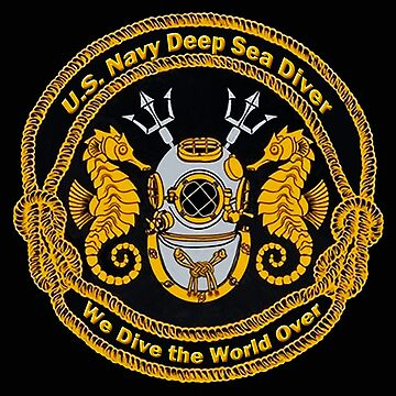 Navy Deep Sea Diver Emblem by Skyviper