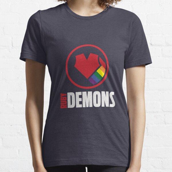 Ruby Demons logo (dark background) Essential T-Shirt