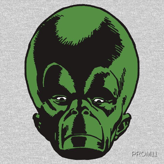 TShirtGifter presents: Big Green Mekon Head