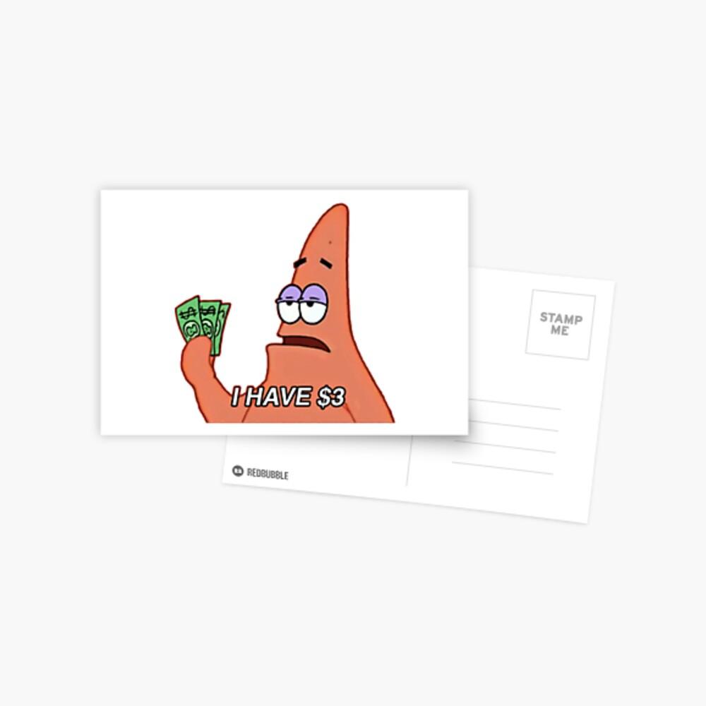 patrick star meme Postcard