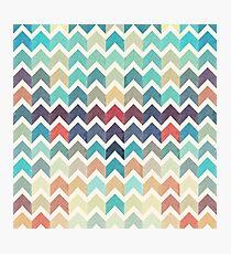 Watercolor Chevron Pattern Photographic Print