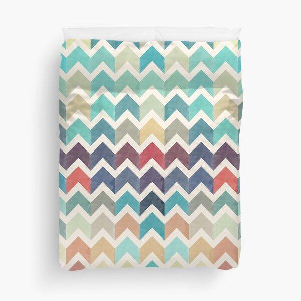 Watercolor Chevron Pattern Duvet Cover