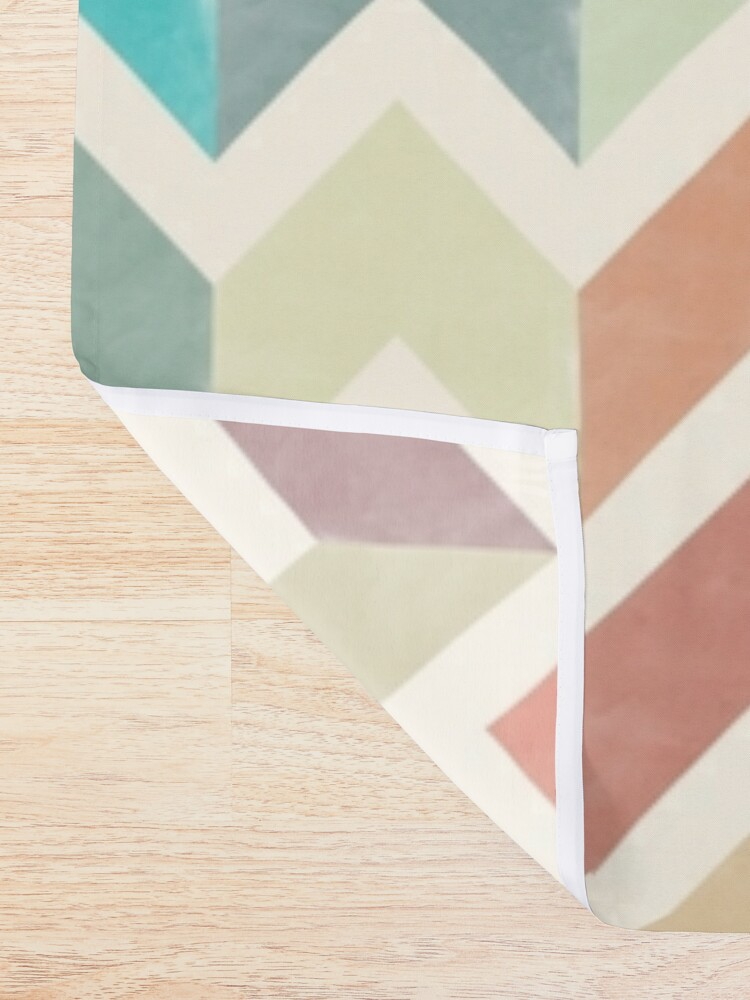 Alternate view of Watercolor Chevron Pattern Shower Curtain