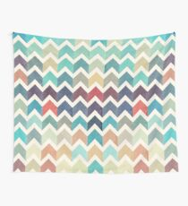 Watercolor Chevron Pattern Wall Tapestry