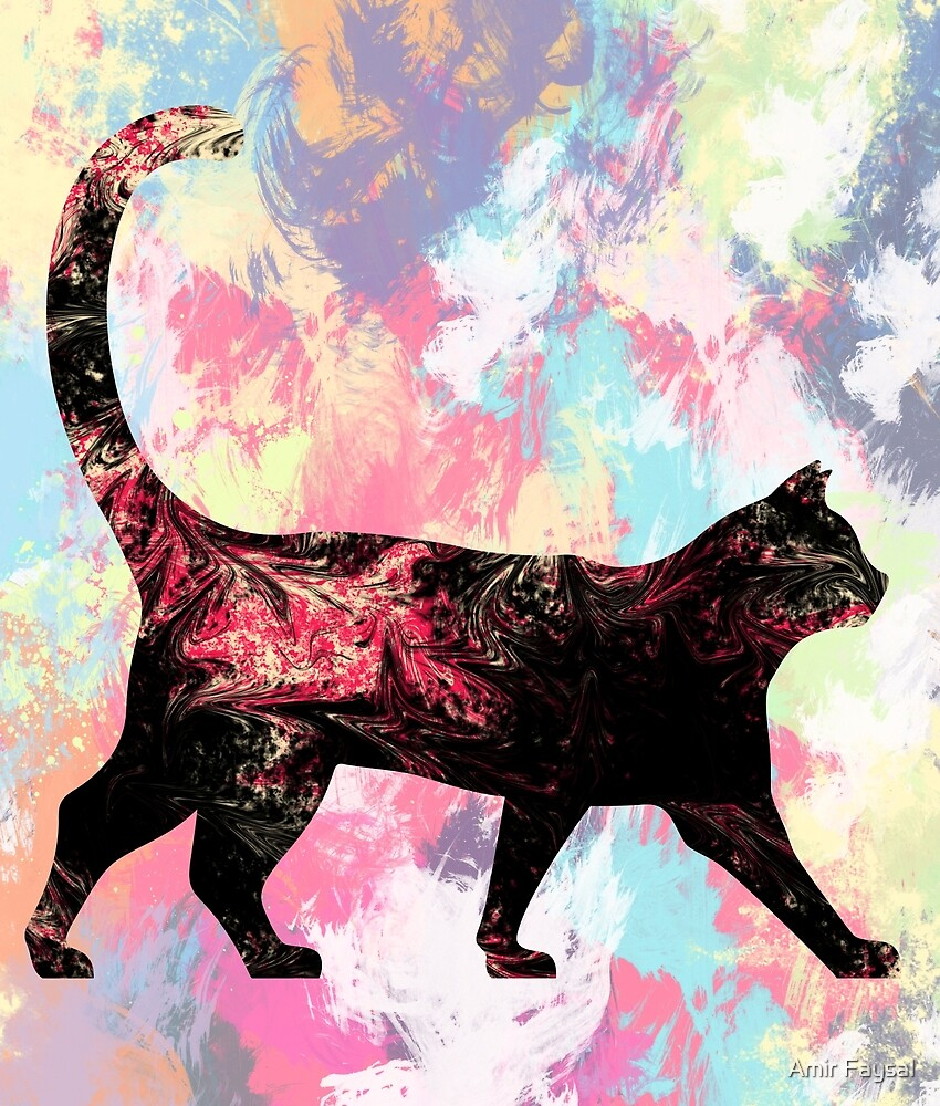 Abstract Cat by Amir Faysal