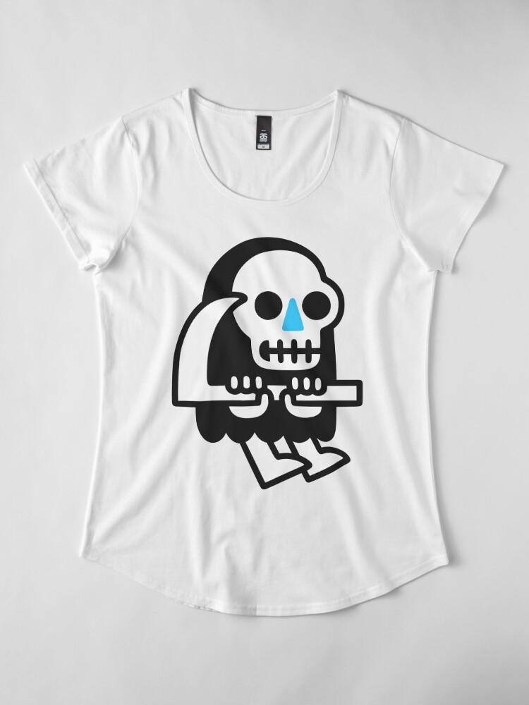 Alternate view of Grim Reaper Guy Premium Scoop T-Shirt